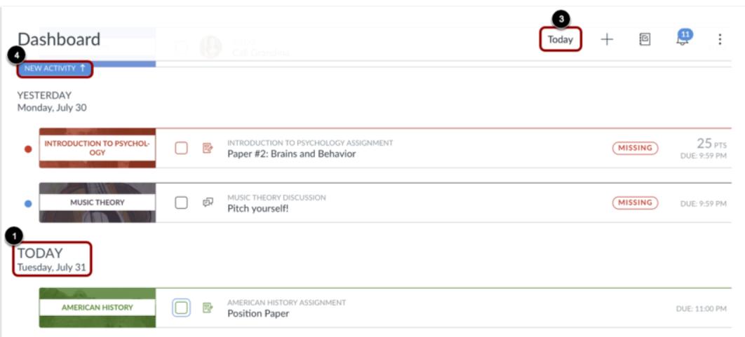 dashboard list view option