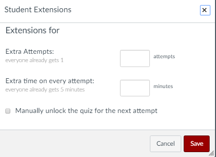 box to give extensions